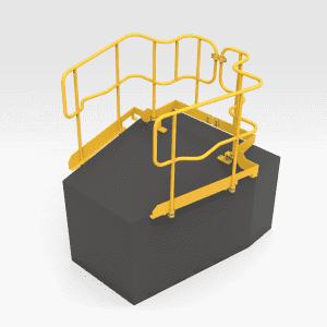 5504835 D10T Bonnet Handrails RH