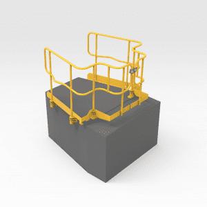 Caterpillar D10T Drop-in Bonnet Handrails