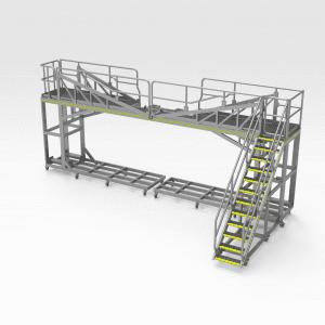 Caterpillar 854K Lift Cylinder Access Platform