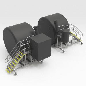 Komatsu 730E Lift Cylinder Pin Access Platforms