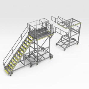 Komatsu HD1500 Chassis Access Platform