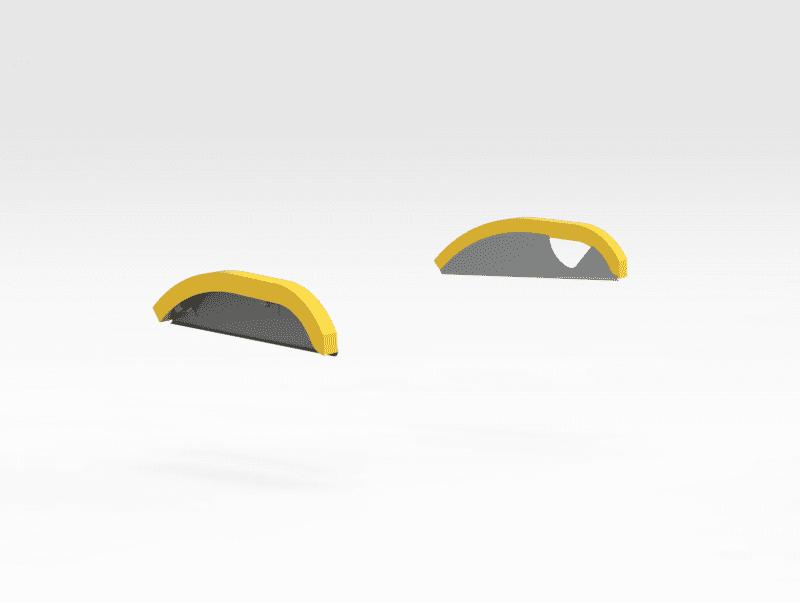 Hitachi EX5600 Boom Grease Line Guard Plates