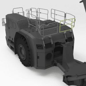 5512677 TH663 SANDVIK Rear Low Folding