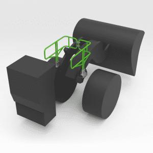 5403187 R3000 Lifting Arm Handrails