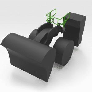 5403187 R3000 Lifting Arm Handrails REAR