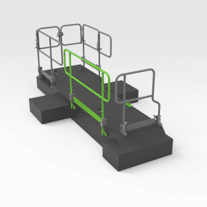 AD30 Lay Flat Handrail LH Front Isometric
