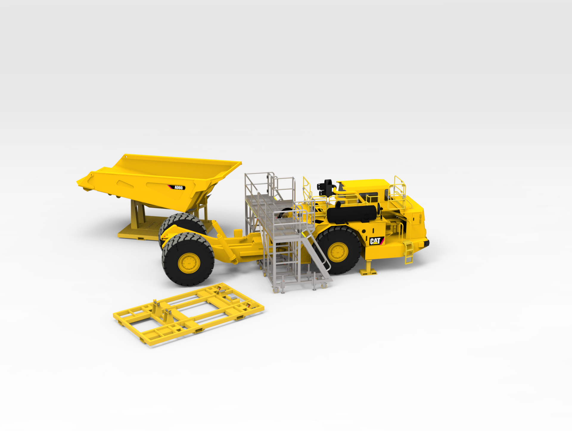 CAT AD60 3D Platforms and Stands 05